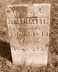John Ricketts Tombstone